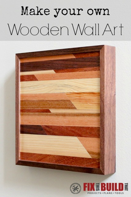 DIY Small Wooden Wall Art p1