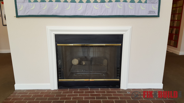 DIY Fireplace Surround and Mantel-36
