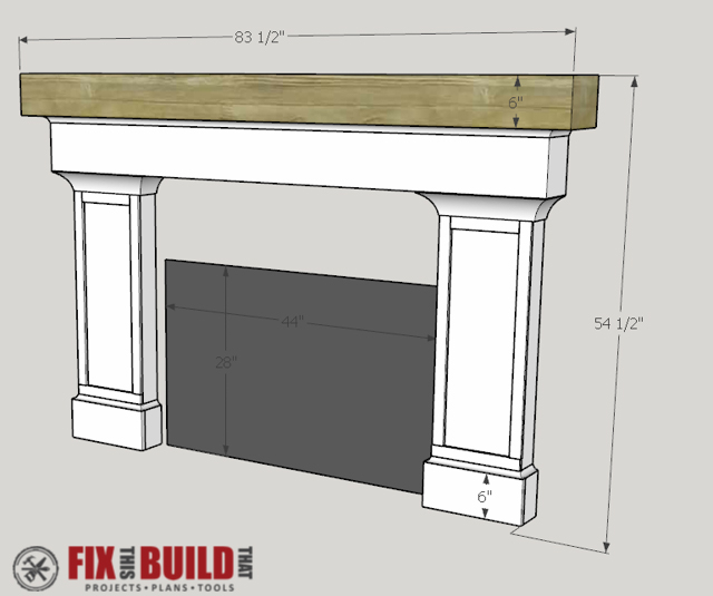 How to Build a Fireplace Surround and Mantel | FixThisBuildThat