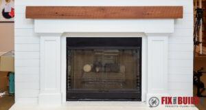 DIY Fireplace Surround and Mantel-60