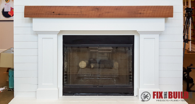 DIY Fireplace Surround and Mantel-60