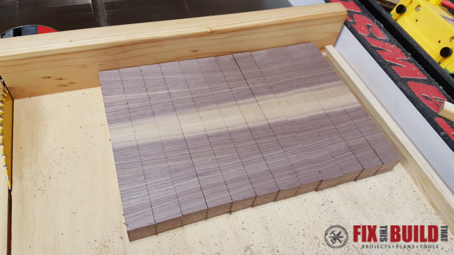 how to make an end grain cutting board fixthisbuildthat. Black Bedroom Furniture Sets. Home Design Ideas