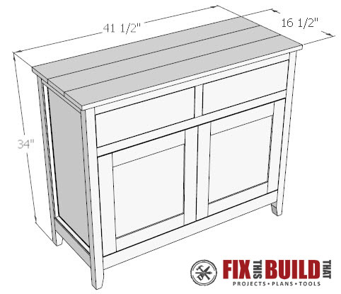 DIY Sideboard Cabinet Plan