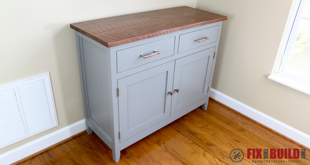 DIY Sideboard Cabinet Build With Plans
