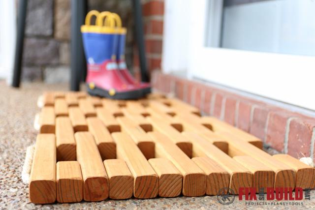 DIY Wooden Doormat-39