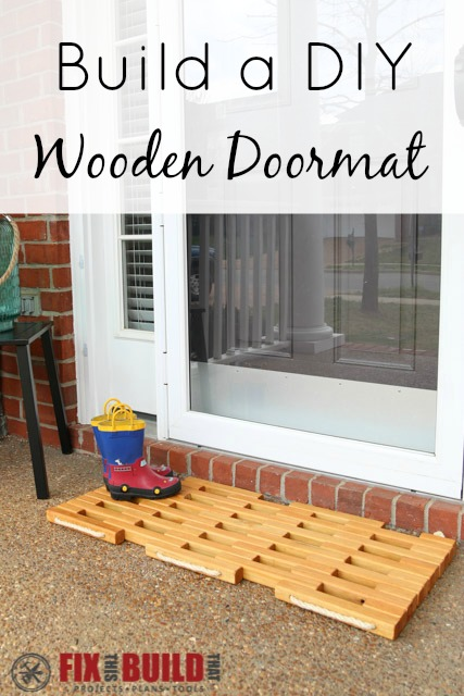 DIY Wooden Doormat Plans