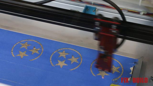 Custom Laser Wood Coaster Set-30