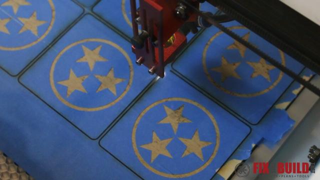 Custom Laser Wood Coaster Set-32