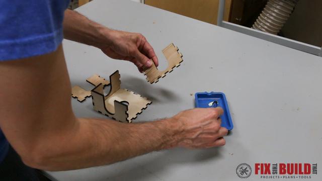 Custom Laser Wood Coaster Set-35