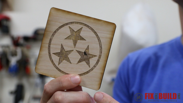 Custom Laser Wood Coaster Set-46
