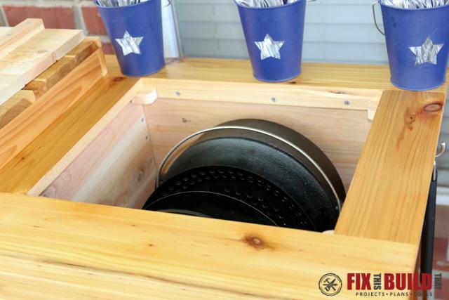 DIY Patio Cooler Grill Cart-107