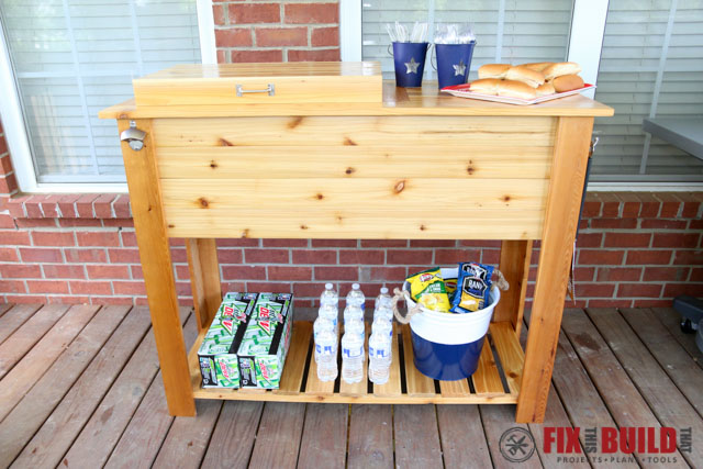 Diy Patio Cooler Grill Cart 108