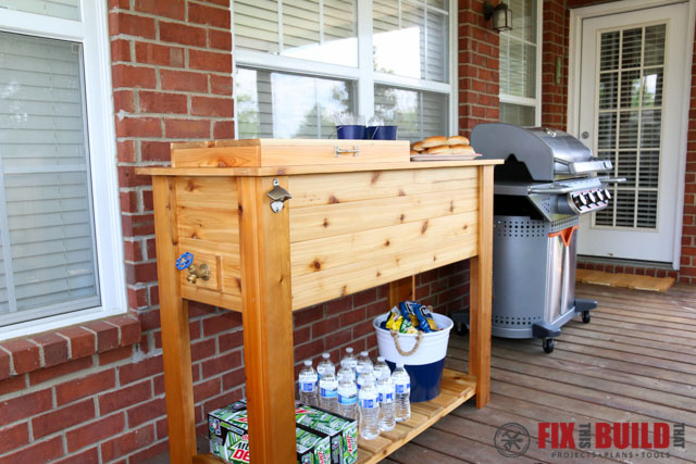 Wooden Cooler Box Plans