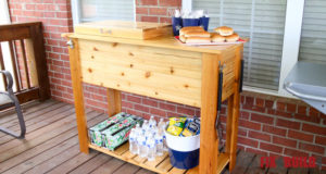 DIY Patio Cooler Grill Cart