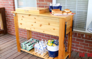 DIY Patio Cooler Cart