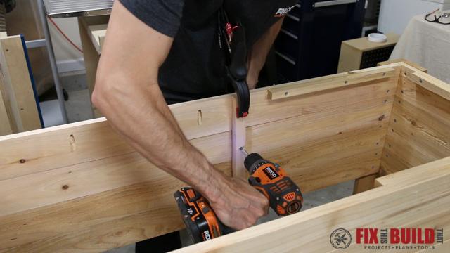 DIY Patio Cooler Grill Cart-17