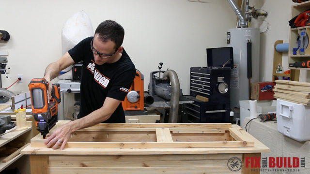 outdoor cooler table top assembly