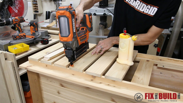 assembling wooden cooler box