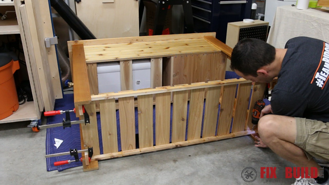 DIY Patio Cooler Grill Cart-48