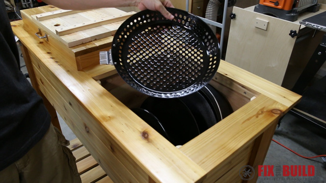 DIY Patio Cooler Grill Cart-51
