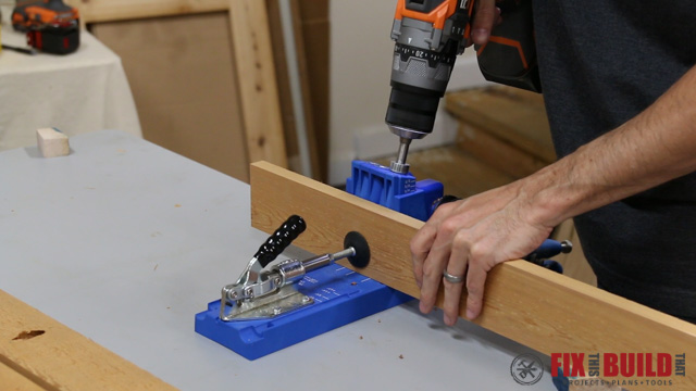 How to drill pocket holes for a cooler box