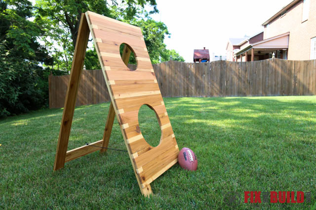 DIY Football Toss Backyard Game