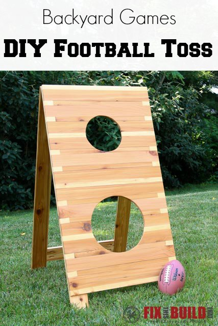 Ana White | Football Toss Game - DIY Projects |Football Toss Game