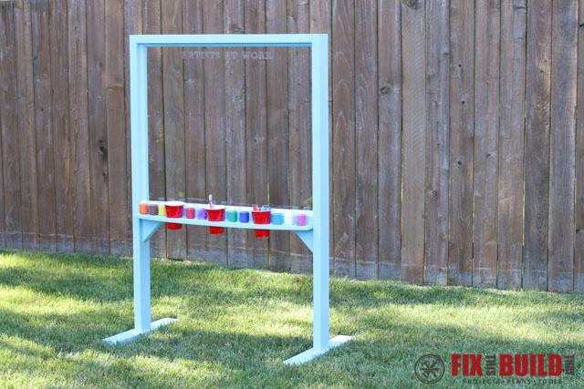 DIY Kids Outdoor Acrylic Easel-101