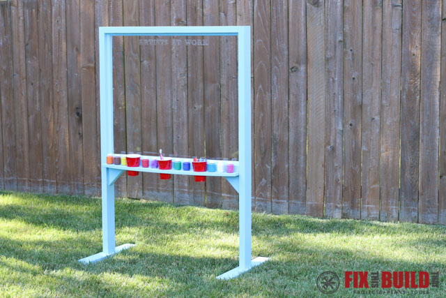 DIY Kids Outdoor Acrylic Painting Easel