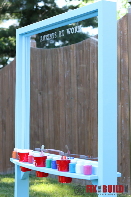 Do It Yourself Home Design: Kids Outdoor Acrylic Painting Easel
