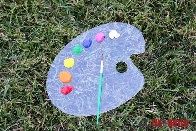 DIY Kids Outdoor Acrylic Easel-104