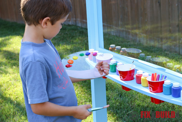DIY Kids Outdoor Acrylic Easel with laser