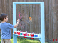 DIY Kids Outdoor Acrylic Easel