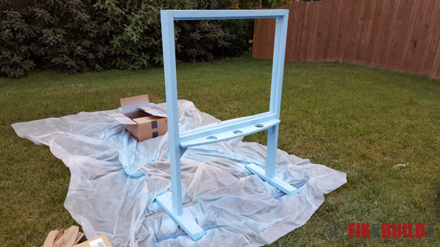 DIY Kids Outdoor Acrylic Easel-33