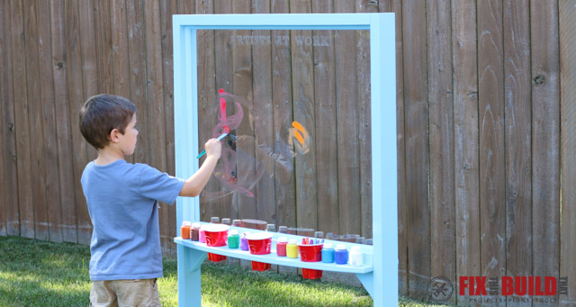 Kids Outdoor Acrylic Painting Easel | FixThisBuildThat