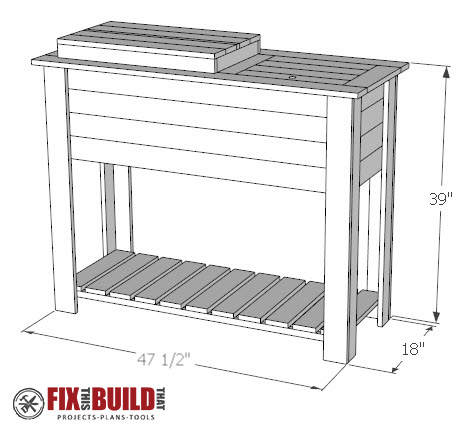 How to build a patio cooler and grill cart combo Picnic table with cooler plans