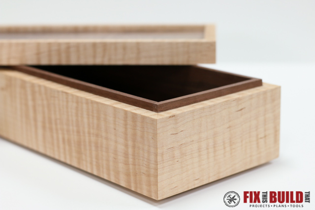 How to make a simple wooden jewelry box fixthisbuildthat for Jewelry box made of wood