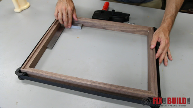 using a webclamp on mitered frame