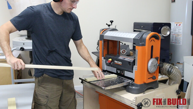 sacrifical boards to reduce planer snipe