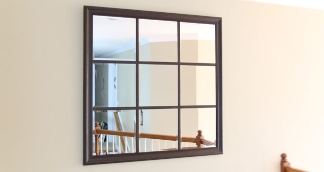 Make A Diy Window Pane Mirror