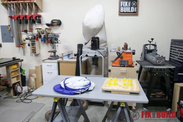 DIY Spray Booth Turntable-20