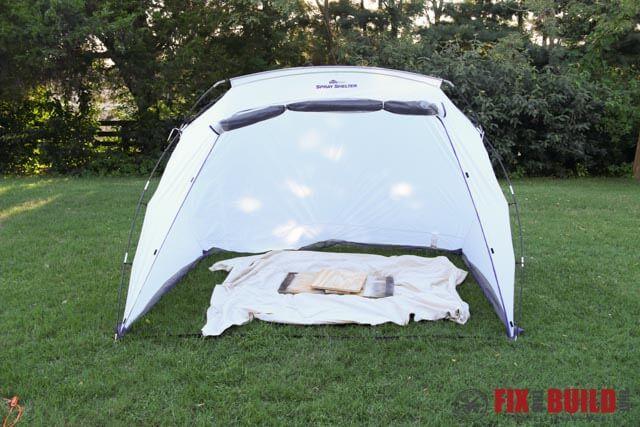 HomeRight Spray Shelter Setup