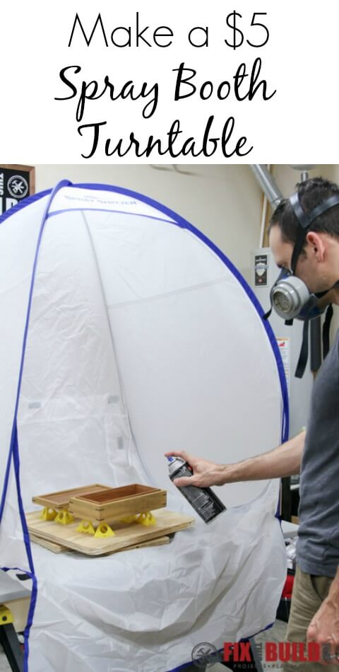 Make this simple DIY Spray Booth Turntable with $5 in hardware in some scrap plywood