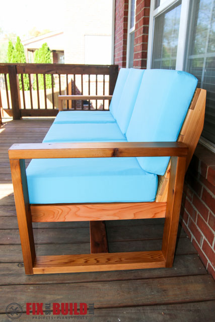 ... Make Your Own DIY Outdoor Modern Sofa