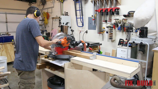 cutting boards on miter saw