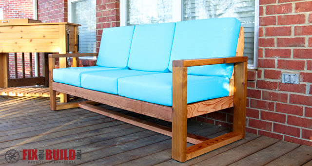 diy outdoor furniture couch step by step how to build diy modern outdoor sofa fixthisbuildthat