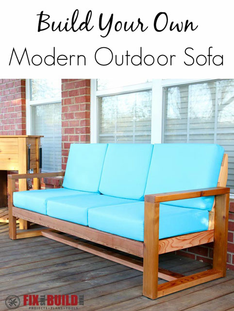 Build Your Own DIY Outdoor Modern Sofa