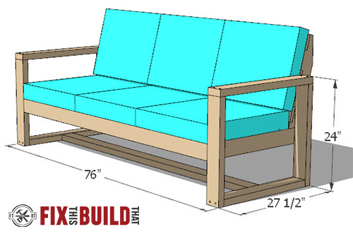 modern outdoor sofa plans