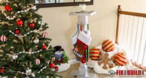 Build a DIY Christmas Stocking Hanger