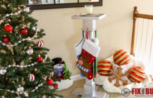 Build a DIY Christmas Stocking Hanger